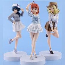 LoveLive! Luz Do Sol! anime figura de ação DO PVC O Takami Chika Tsushima Yoshiko Mari Ohara meninas Bonitos Presente Toy model Collection encaixotado