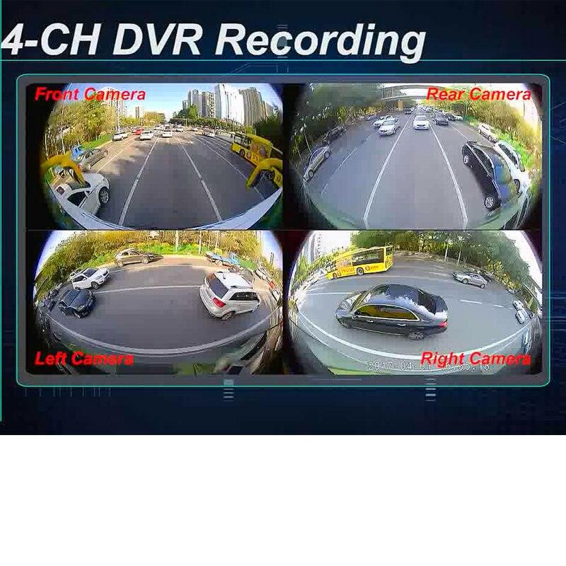 4 Cam Car Dvr Recording Parking Rear View Camera 100% Quality Bird View Panoramic System Interior