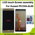 1 unids oro para huawei p9 pantalla lcd + pantalla táctil del panel de cristal digitalizador reemplazo asamblea lcd 5.2 pulgadas eva-al00 en stock