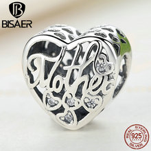 925 Sterling Silver Openwork Mother & Son Bond Charms Beads Fit Pandora Charm Bracelets & Necklaces DIY Jewelry Making GYC083