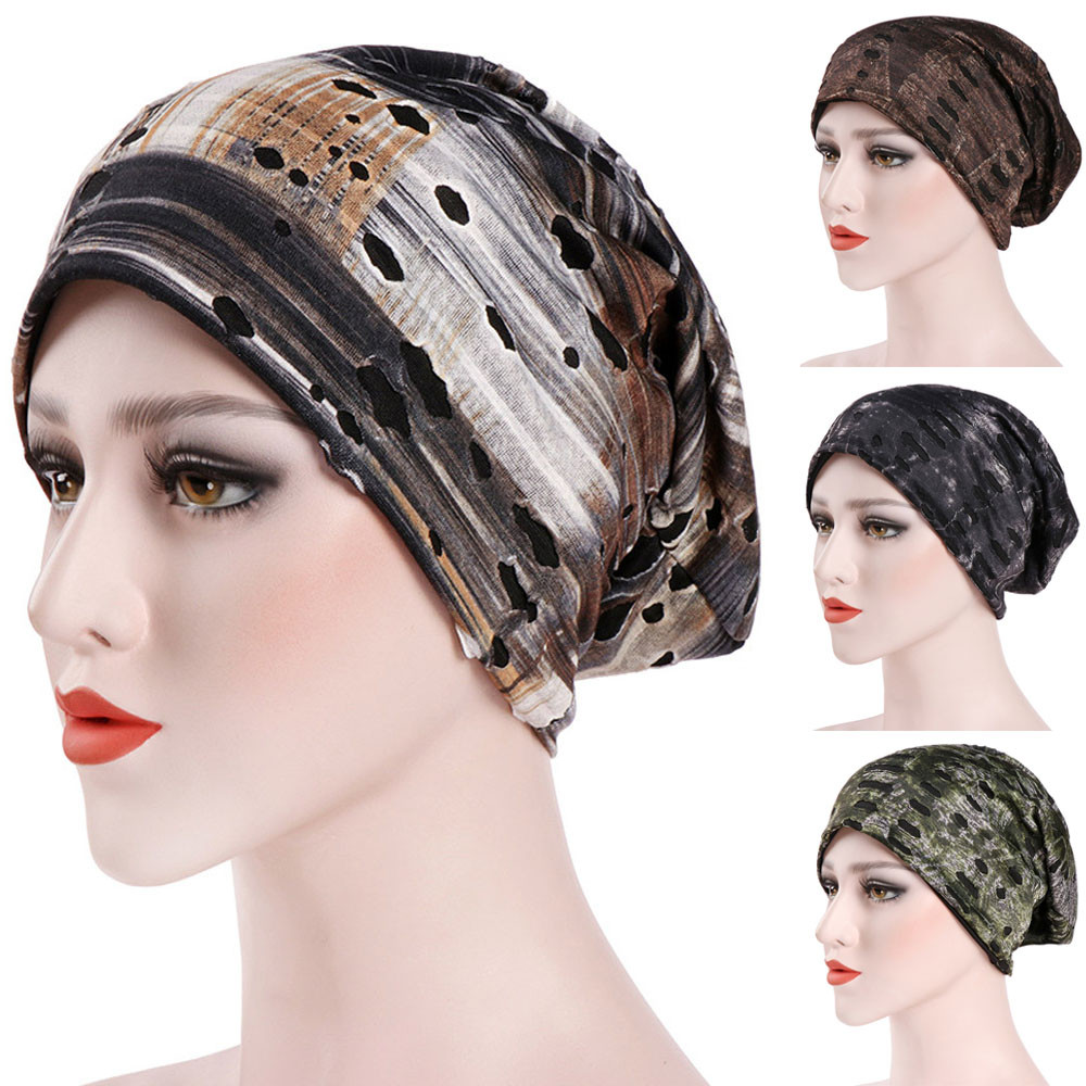 2019 New Fashion Hat Women Solid Casual Plait India Hat Muslim Ruffle Cancer Chemo Hat Beanie Scarf Turban Head Wrap Cap A415