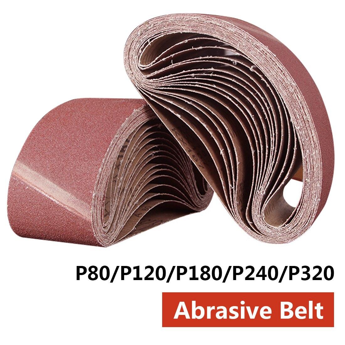 Abrasive Tool 533x75mm Sanding Belts 80-320 Grits Sandpaper Abrasive Bands For Sander Power Rotary Tools Dremel Accessories