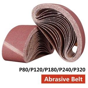 Image 1 - Abrasive Tool 533x75mm Sanding Belts 80 320 Grits Sandpaper Abrasive Bands for Sander Power Rotary Tools Dremel Accessories