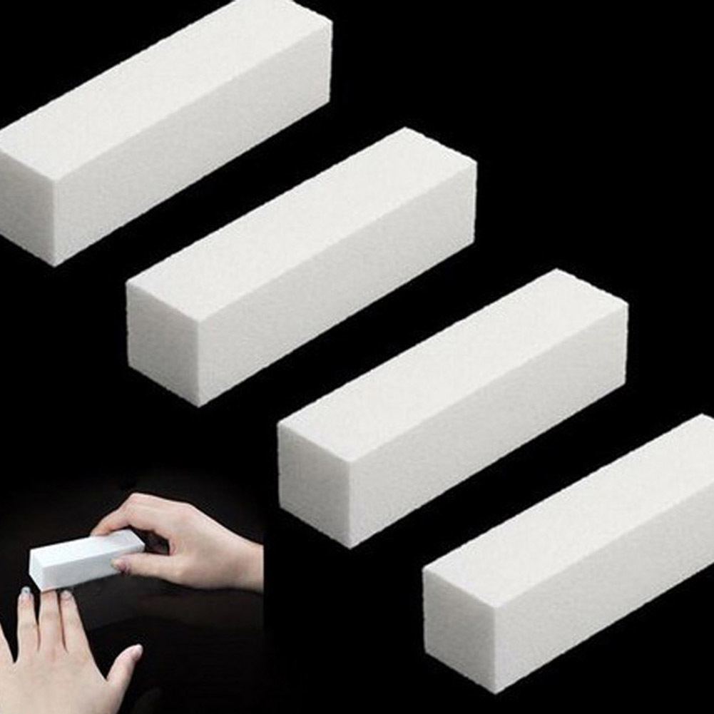 DIY nail art buffer file block toenails polished white tool 1 piece massage in Massage Relaxation from Beauty Health