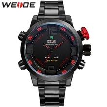 Горячая WEIDE часы мужские свободного покроя часы многофункциональный из светодиодов часы мужчины двойной часовой пояс с тревогой спортивный дайвер кварцевые наручные часы