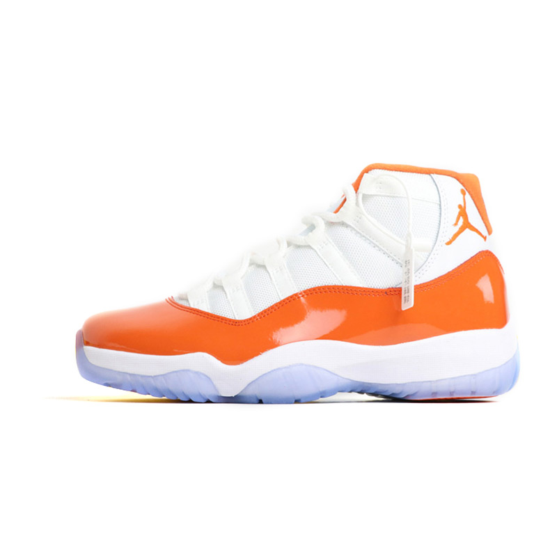 Cheap Sale Jordan 11 Basketball Shoes White Orange Winter Shoes Hot Warm Outdoor Sport Shoes Cushion Sneakers New Color Remote Control Toys