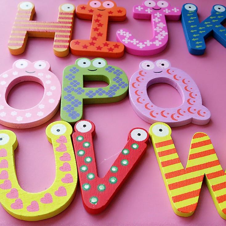 машины мультфильм конструкции деревянные буквы Майло 26 шт. prepaid алфавит магнит на холодильник магнит стене буквы наклейки