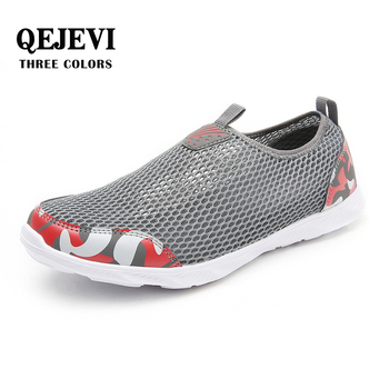 2018 QEJEVI Men Mesh Beach Wading Shoes Quick Drying Walking Breathable Sneakers Upstream Aqua Camping Air Running Shoes Aqua