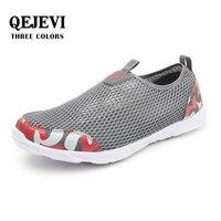 2018 QEJEVI hombres malla playa Wading zapatos de secado rápido caminar transpirable zapatillas Upstream Aqua Camping Air Running Shoes Aqua