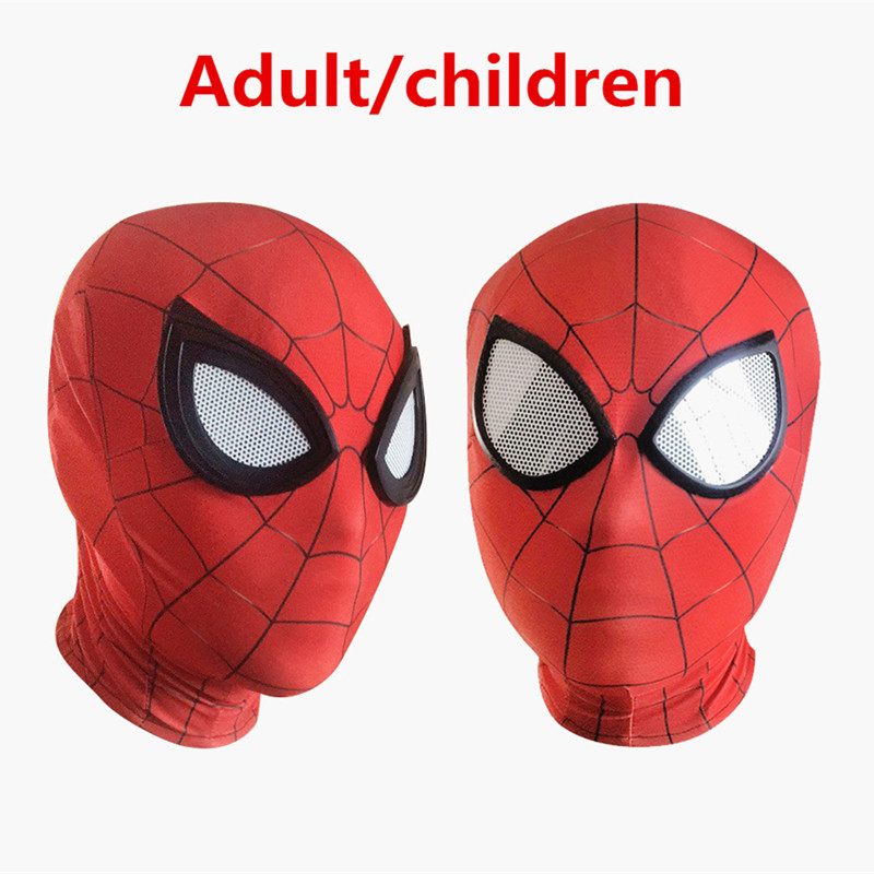 3D Spiderman Homecoming Masks Avengers Infinity War Iron Spider Man Cosplay Costumes Lycra Marvel Comic Mask Superhero Lenses