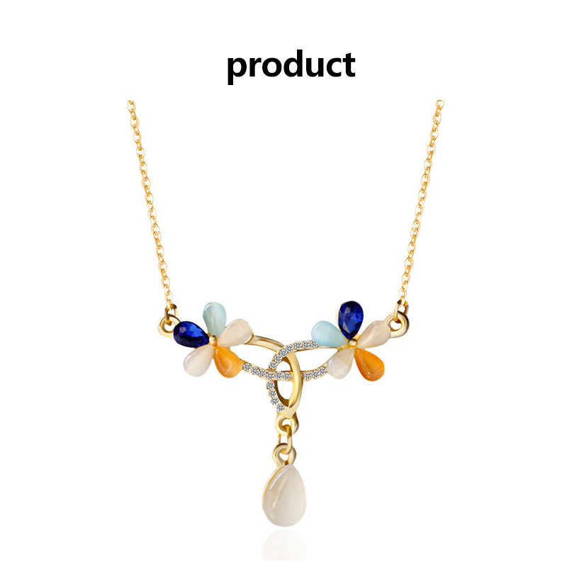 2019 Мода 1 комплект х ожерелье серьги набор натуральный камень Драгоценности собрать круглый Опал Цвет Кристалл ожерелье для женщин еврей