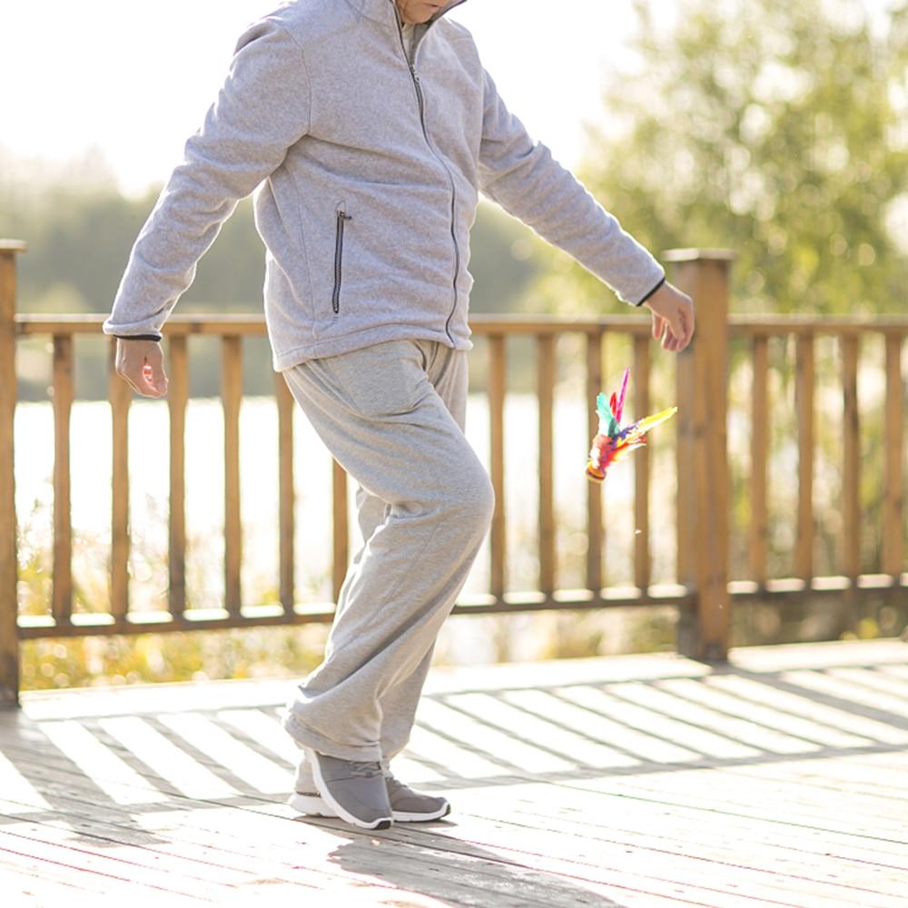 1 шт. красочные волан для пинания s ног упражнения Спортивная игра перо китайская Фитнес Спортивная игрушка игра нога волан для пинания