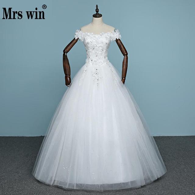 2018 New Arrival Flower Wedding Dress Engerla Sleeveless Tulle Boat ...