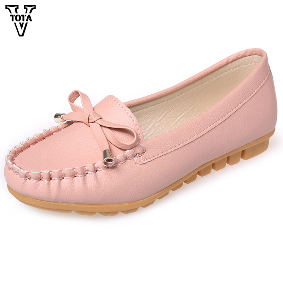 VTOTA Fashion Shoes Woman Flats Outdoor Shoes Recreation Butterfly-knot Women Shoes Comfortable Flats Shoes Zapatos Mujer X233 vtota spring autumn shoes woman butterfly knot flats women shoes slip on casual shoes flat zapatos mujer soft female shoes 606
