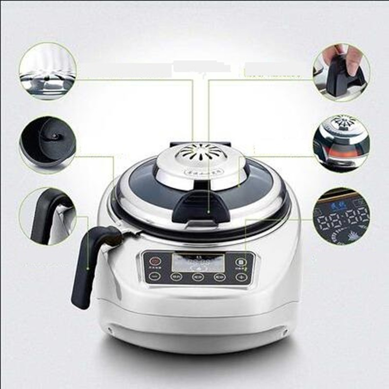 EU/AU/UK/US 220V Multifunctional Electric Cooking Wok Pot Automatic Intelligent Household 4.2L Electric Cooking Frying Machine automatic cooking robot automatic cooking pot intelligent electric frying pan