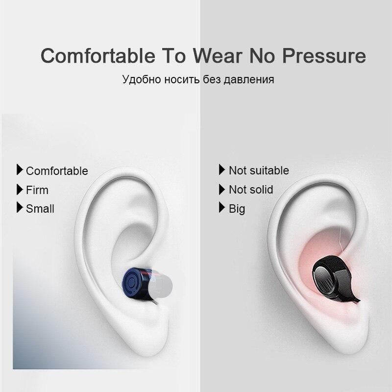 TOMKAS Wireless Headphones Tws Bluetooth Earphones True Stereo Earbuds Sport Headset with 2000mAh Power Bank for iPhone Xiaomi (9)