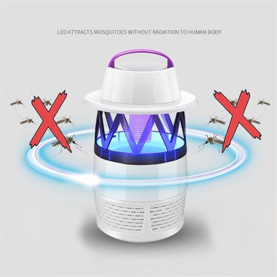 2018 Новый убийца комаров 1 шт. Электрическая мухобойка светодиодный мухобойка USB Fly Trap летающих насекомых Комаров 35