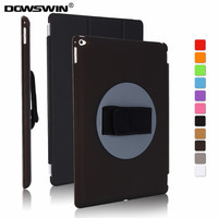 For iPad Pro 12.9 Case 2015,DOWSWIN 360 Degree Rotating Cover For iPad Pro 12.9 inch pu+pc Cover Case With Handheld Strap