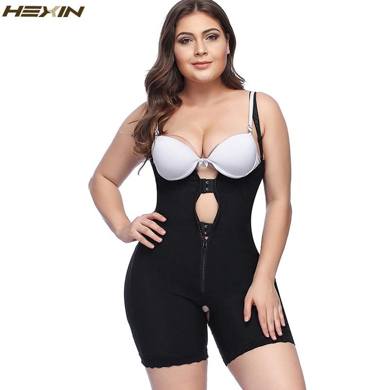 7feeb8ba5829f HEXIN Plus Size Clip and Zip Shapewear Waist Slimming Shaper Corset Brief Butt  lifter Strap Body Shaper Underwear Women Bodysuit