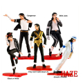 Conjunto de 5 Pcs Foreve MJ Michael Jackson King of Pop Figura de Ação