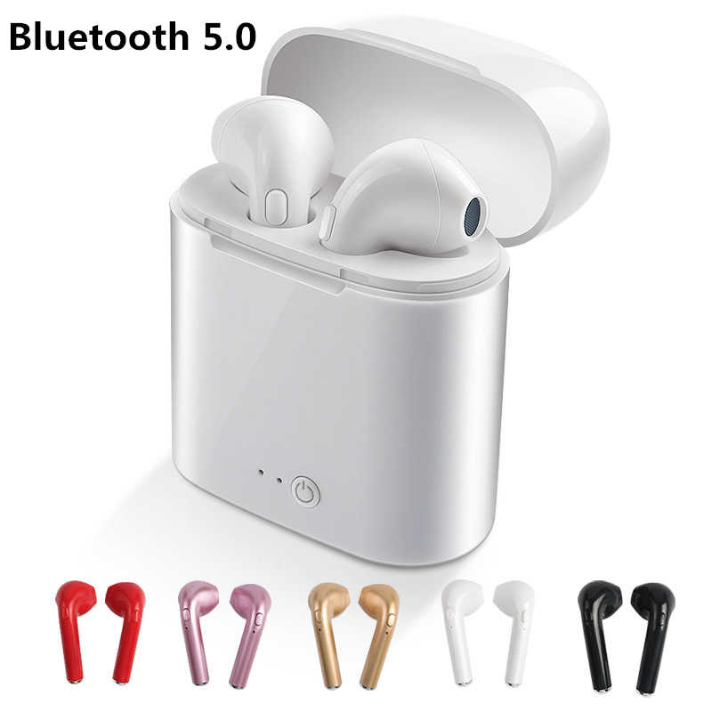 I7 i7s TWS Bluetooth 5.0 Wireless Earphones Earbuds Headset With Mic For Phone iPhone Xiaomi Samsung Huawei LG