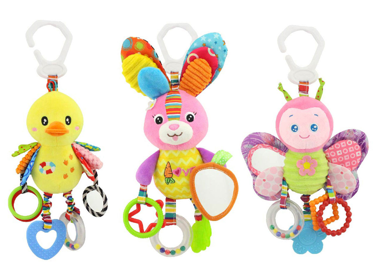 Baby Rattles Mobiles Toys For Kids Soft Baby Toys 0-12 Months Toddler Infant Rabbit Hanging Bed Crib Stroller Rattles Teether