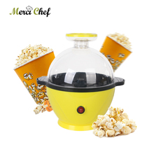 ITOP Electric Household Mini Popcorn Machine Yellow Maker 3L Family Party Snack DIY Children Gift 220V