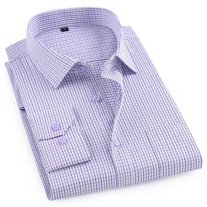 MACROSEA estilo clásico de los hombres camisas a cuadros de manga larga camisas informales para hombres para los hombres, cómodas y transpirables Oficina Ropa