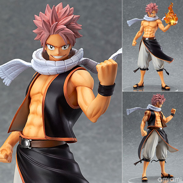 все цены на Good Smile Anime PVC 1/7 Fairy Tail Natsu Dragnir Action Figure Natsu Dragneel Model Toy Decoration Collections Men Gift 23cm онлайн