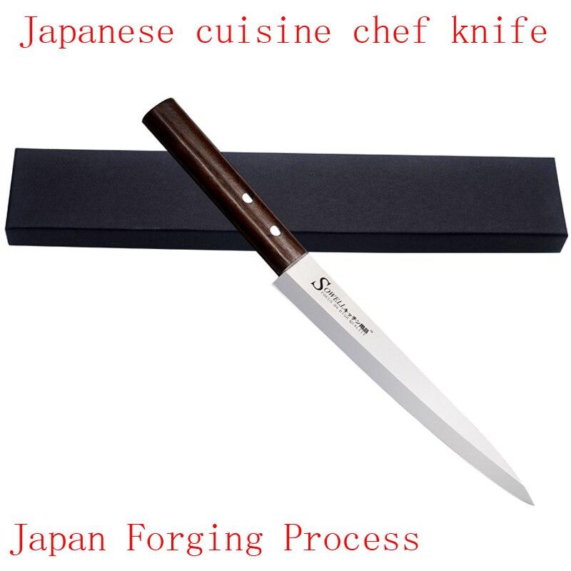 Livraison Gratuite LD marque en acier inoxydable cuisine couteau sashimi de saumon poisson cru filet de chef couteaux de cuisine couteau de Sashayed cadeau
