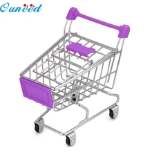 Ouneed Happy Home MINI Shopping Cart Storage Rack Kids Toy Creative Desktop Shelves Puff Storage Rack 1Pc(China)