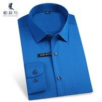 Men S Easy Care Solid Bamboo Fiber Dress Shirts Comfortable Soft Slim Fit Long Sleeve Elastic