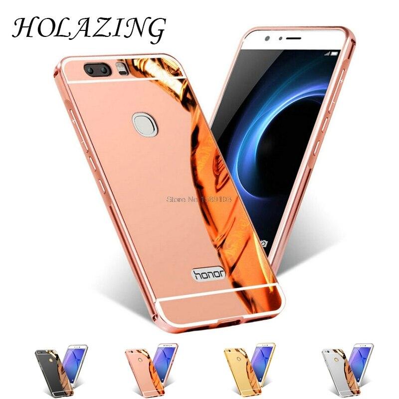 Holazing 2 в 1 съемная металлический Алюминий бампер для Huawei Honor V9 с зеркалом сзади твердый переплет