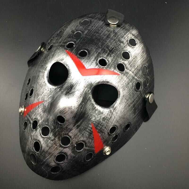 Stylish NEW Jason Voorhees Friday the 13th Horror Movie Hockey Mask Scary Halloween Party Mask with elastic Strap Full Face