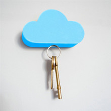 2019 New Qualified Creative Novelty Home Storage Holder White Cloud Shape Magnetic Magnets Key Hot Sale High Quality