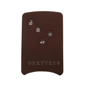 Image 5 - OkeyTech Silicone Car Key Cover Case Fob Shell For Renault Clio Scenic Megane 2 3 Duster Sandero Captur Twingo koleos Smart Card