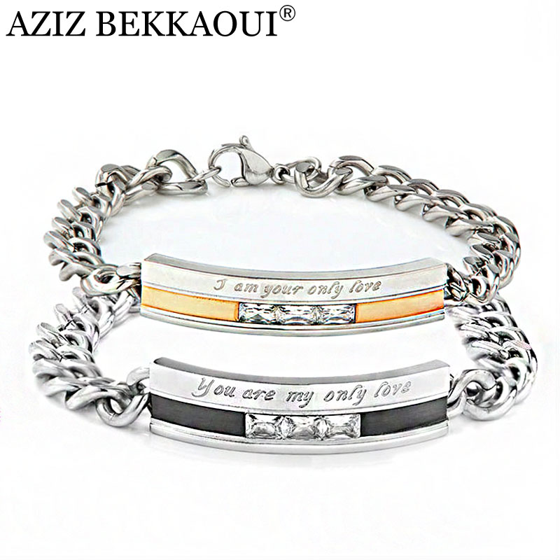 Top Quality Honey Anium Stainless Steel Bracelet White Gold Color Engrave Bangle Jewelry Lb 016 In Cuff Bracelets From