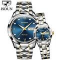 Pareja reloj mecánico automático reloj jsdun marca de lujo Amor de relojes resistente al agua auto fecha acero femenina Relojes