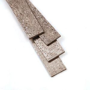 Image 5 - Thật Damascus Đồng Phôi Thép Tẩy Trống HRC58 Dao Thép Tự Làm Tẩy Trống Dao Làm Chất Liệu Thép Không Gỉ