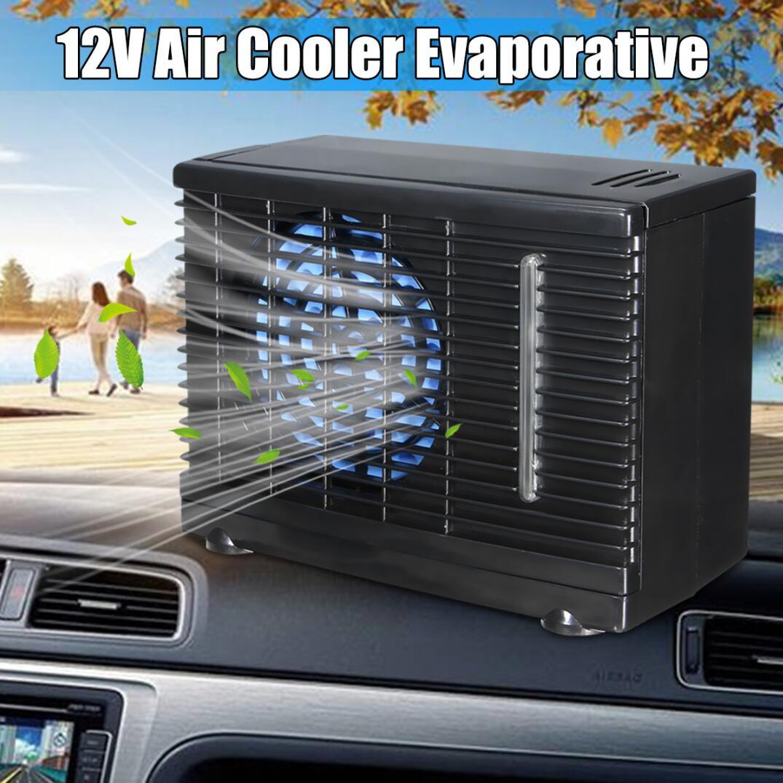 12V 35W 2 velocidades portátil Mini ventilador de refrigeración de coche en casa enfriador de hielo de agua evaporativo aire acondicionado de coche para coche camión ventilador de enfriamiento automático