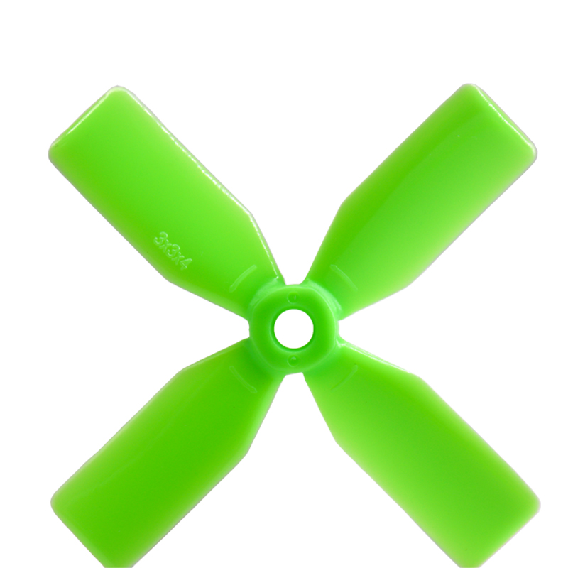 4Pairs Propellers Prop 3 3030 4 Blades 3x3x4 CW CCW Green For FPV Racing Models Quadcopter Spare Part DIY Accs image