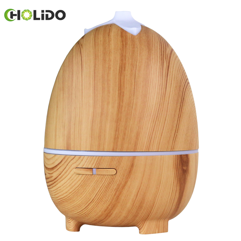 CHOLIDO Air Humidifier Remote Control Ultrasonic Aromatherapy electric Diffuser Wood Grain Essential Oil Aroma Mist Maker Home