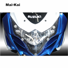 MAIKAI For SUZUKI GSX-R1000 GSX R1000 GSX-R 1000 2009-2014 Motorcycle Headlight Protector Cover Shield Screen Lens
