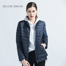 Spring Coat Women Winter Jacket Office Lady ukraine Short Clothes Windproof Female New Design AllureAmore 2018