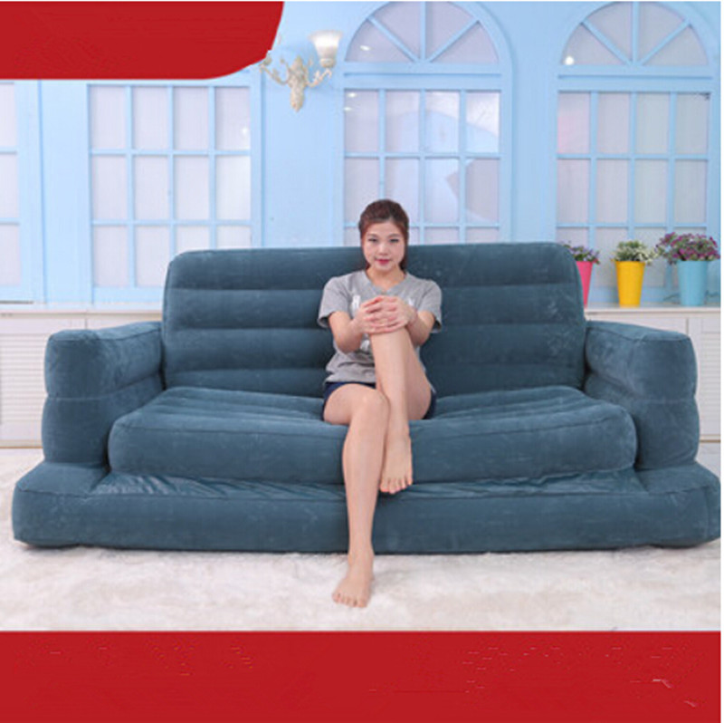 Deluxe Twin inflatable sofa bed lazy folding sofa bed adult sofa recliner chair sofa elastic webbing sofa tension belt bed elastic bandage