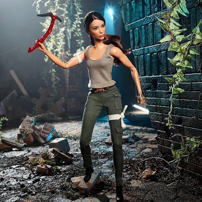 ตุ๊กตาบาร์บี้ต้นฉบับ Super Star Tomb Raider Lara คอลเลกชันชุดตุ๊กตาแฟชั่นสไตล์วันเกิดของขวัญตุ๊กตา Bonecas ของเล่นเด็กสำหรับสาว-ใน ตุ๊กตา จาก ของเล่นและงานอดิเรก บน   2
