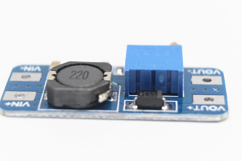Image 5 - Free shipping 100PCS MT3608 2A boost plate DCDC boost module 2 24V up 5/9/12/28V adjustable-in Integrated Circuits from Electronic Components & Supplies