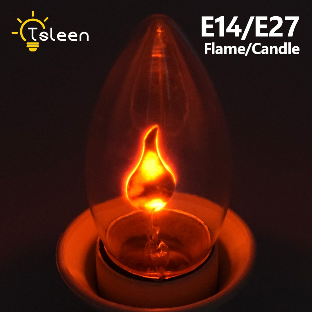 Dynamic Flame Effect LED holiday Light Corn Bulb Lamp 220V E27 E14 Simulation Fire Burning Flicker Christmas Light|e14 c35|c35 lede27 e14 -