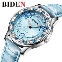 Watch Women Luxury Brand Leather Women's Quartz Wristwatches Fashion Creative Female Watch Rhinestone Diamond Relogio Clock 2018