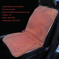 12V Rapid Intelligent Electric Heated Car Seat Cushion Winter Car Seat Heated Household Cushion Universal Black